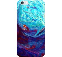 Color blue  swirl iPhone Case/Skin