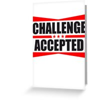 Challenge Accepted Text Logo Design Greeting Card