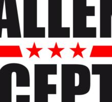 Challenge Accepted Text Logo Design Sticker