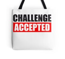 Challenge Accepted Text Logo Tote Bag