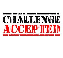 Challenge Accepted Stempel Logo by Style-O-Mat