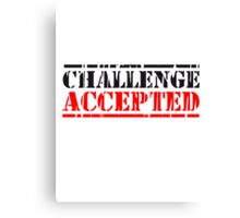 Challenge Accepted Stempel Logo Canvas Print