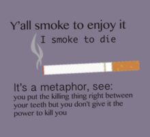 Alaska Young/ Augustus Waters quote about smoking  by elizabethfallin