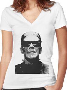 Frankenstein Women's Fitted V-Neck T-Shirt