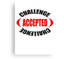 Challenge Accepted Logo-Design Canvas Print