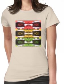 Rasta Frog Vibration Womens Fitted T-Shirt