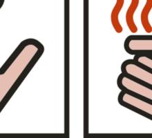 Push Button Receive Bacon Sticker