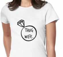 Thug Wife ring Womens Fitted T-Shirt