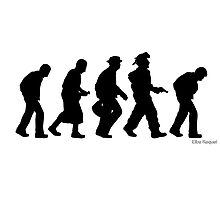 The Evolution of Walter White- Silhouette Photographic Print