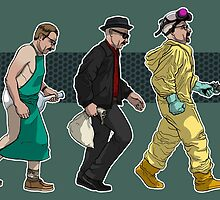 The Evolution of Walter White- Background by elbaraquel
