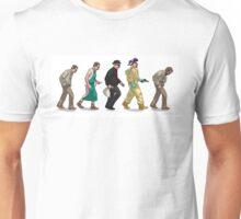 The Evolution of Walter White- White Unisex T-Shirt