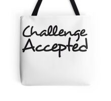 Challenge Accepted Comic Design Tote Bag