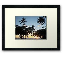 Aloha, Hawaiian Sunset Framed Print