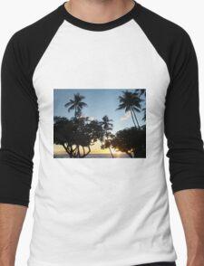 Aloha, Hawaiian Sunset Men's Baseball ¾ T-Shirt