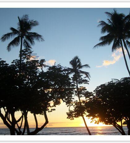 Aloha, Hawaiian Sunset Sticker