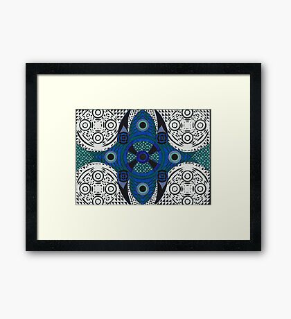 Abdominal Blueprint Framed Print