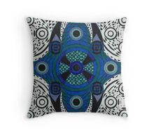 Abdominal Blueprint Throw Pillow