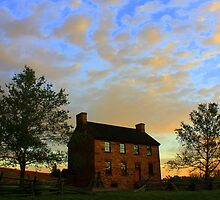 Stone House at Dawn by Cecilia Carr