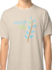 Earth Day With Leaves Classic T-Shirt