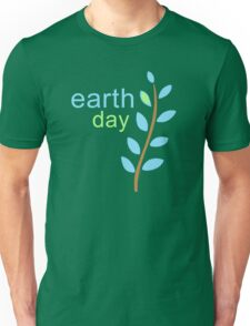 Earth Day With Leaves Unisex T-Shirt