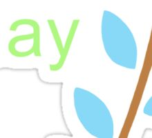 Earth Day With Leaves Sticker