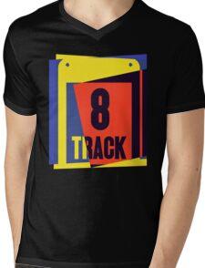 Pop Art 8 Track Tape Mens V-Neck T-Shirt