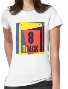 Pop Art 8 Track Tape Womens Fitted T-Shirt
