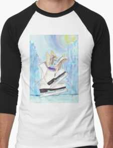Glacier Skating Fairy Men's Baseball ¾ T-Shirt