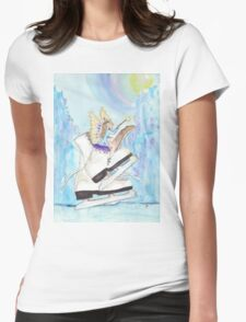 Glacier Skating Fairy Womens Fitted T-Shirt