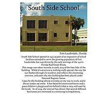 "Fort La Tee Dah ""South Side School"" Photographic Print"