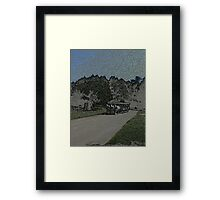 Carraige-Colored Pencil Framed Print