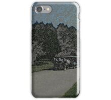 Carraige-Colored Pencil iPhone Case/Skin