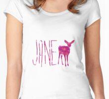 Jane Doe in flowers Women's Fitted Scoop T-Shirt