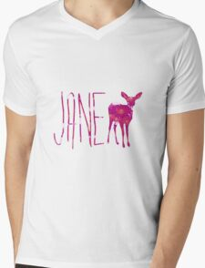 Jane Doe in flowers Mens V-Neck T-Shirt