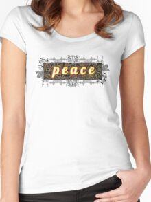 p e a c e Women's Fitted Scoop T-Shirt