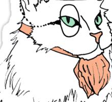 Gentleman Cat In a Bowler Hat Sticker
