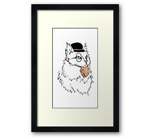 Gentleman Cat In a Bowler Hat Framed Print