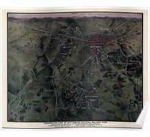 Civil War Maps 1275 Perspective view of Gettysburg National Military Park Poster