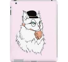Gentleman Cat In a Bowler Hat iPad Case/Skin