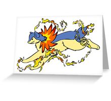 Typhlosion Greeting Card