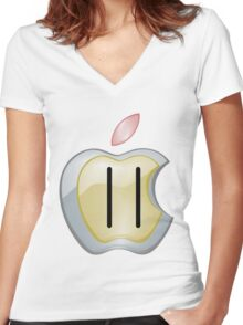 Appleman Women's Fitted V-Neck T-Shirt