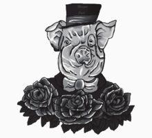 Greyscale Stomach Tattoo Shirt - Digital Art by Tumi, Art by Brian Fusaro by MorganJoyce