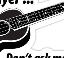 Ukulele No Singing Sticker