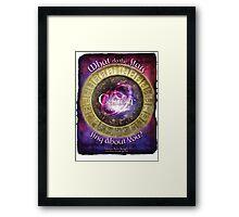 Astrology: Cancer Framed Print