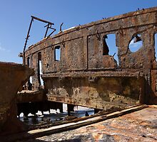 rusted ship by Anne Scantlebury