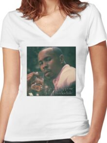 Just a gangster, I suppose Women's Fitted V-Neck T-Shirt