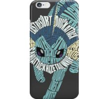 Vaporeon Typography iPhone Case/Skin
