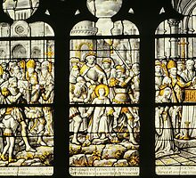 Silver window Notre Dame Beaune France 198404290009 by Fred Mitchell