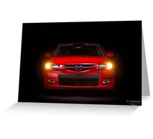 Mazda Speed 3 Greeting Card
