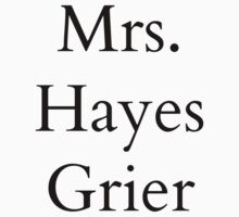 Mrs. Hayes Grier by BaileyLisa